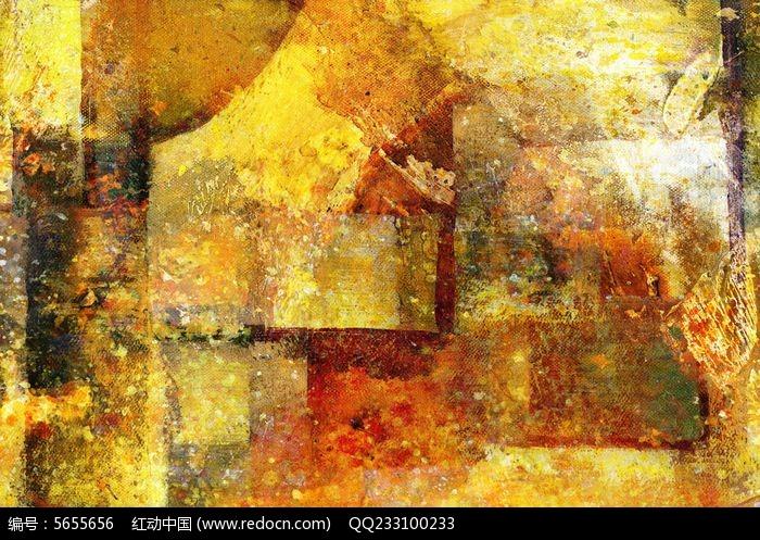 色块抽象画图片,高清大图_插画绘画素材