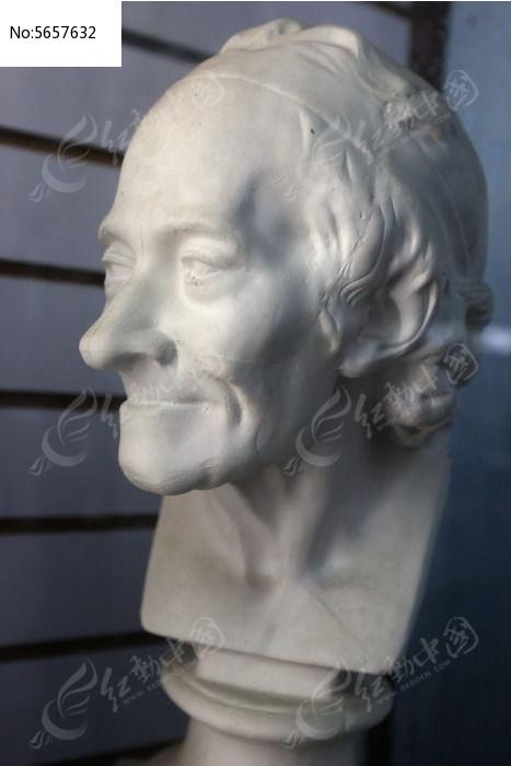 石膏人头雕像图片