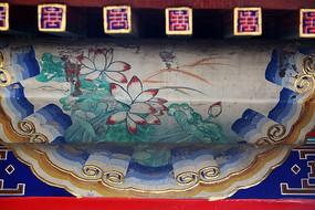 龙纹庙内喜上眉梢传统图案边框
