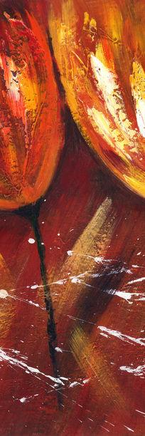 抽象画花卉油画