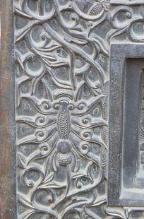 古代铜雕上花纹线条边框