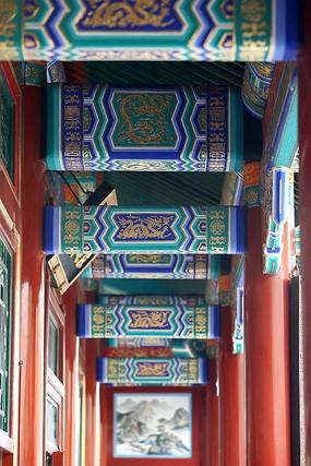 龙王庙回廊上古代龙纹边框