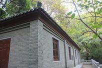 密林中的砖墙建筑