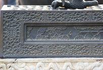 颐和园铜雕上花纹线条边框
