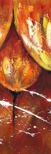郁金香抽象油画