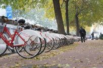 北京街头的公用自行车
