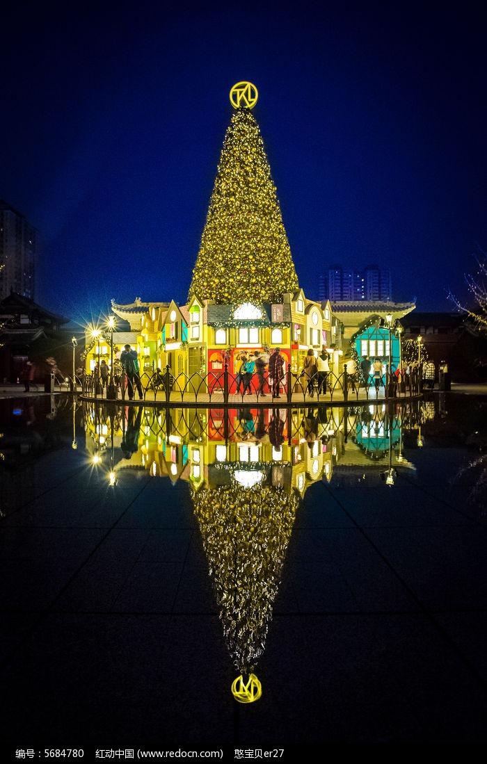 成都太古里圣诞节夜景高清图片下载_红动网