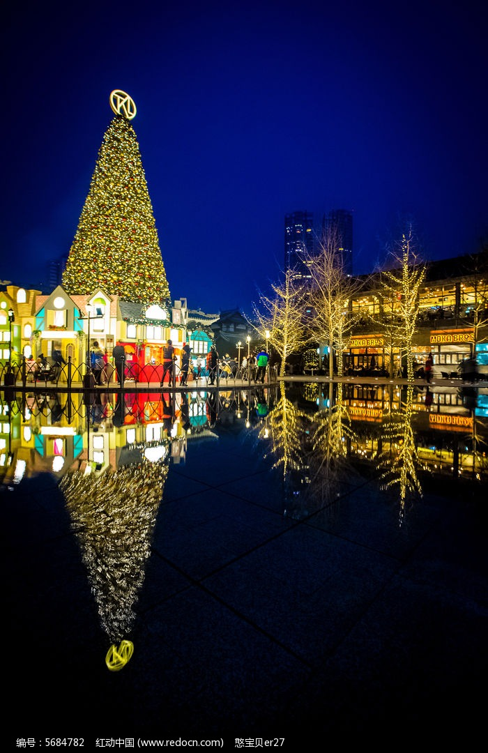 成都太古里圣诞节夜景图片