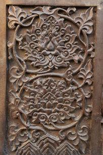 佛像图案花纹铜雕