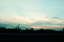 日落时刻太阳
