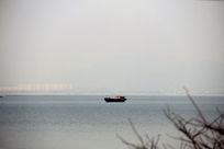 太湖渔船摄影图片