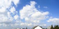 蓝天白云厂房工业区