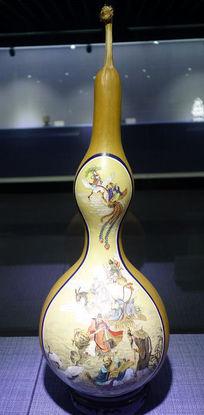 葫芦画《八仙渡海》