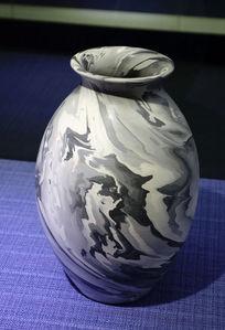 绞胎陶瓷瓷瓶《抽象派》
