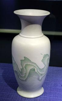 绞胎陶瓷瓷瓶《山水》