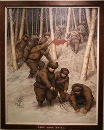 抗战时期少年铁血队反穿鞋子甩脱敌人图画