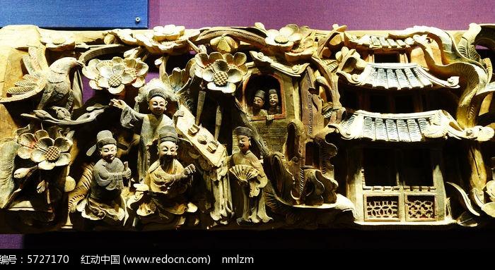 木雕《郴州工古代书院》(局部)图片