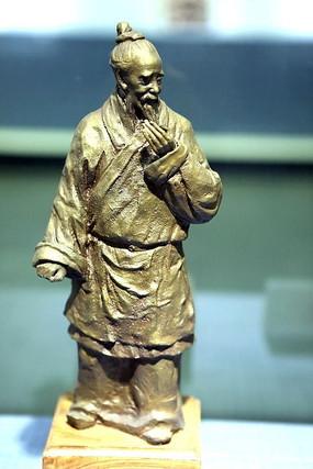 铜彩塑伯乐雕像