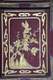 喜鹊花卉木雕