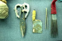 制作挂毯使用的剪刀镊子工具
