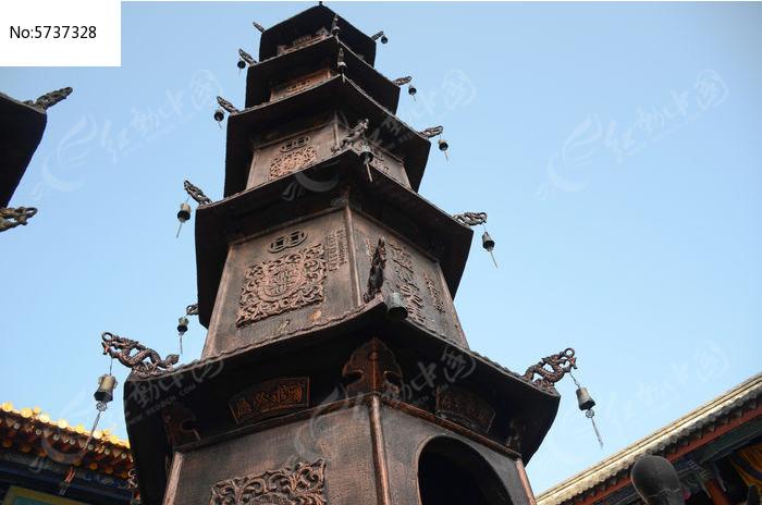 五层铜塔图片