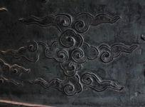 古代大钟上云纹图案铜雕