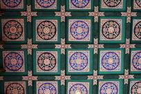 古代屋顶圆形图案和边框