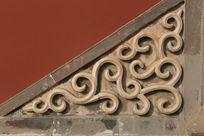 北方照壁传统的花纹石雕