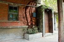 广州红砖厂老墙壁