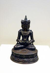 17世纪泥金铜普惠毗卢佛像