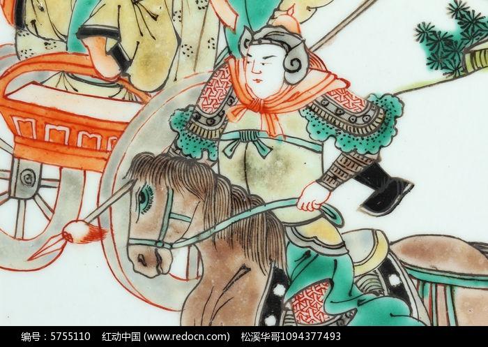 骑马披甲将军图片