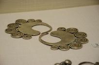 银饰耳饰-哈尼族漩涡纹银耳环