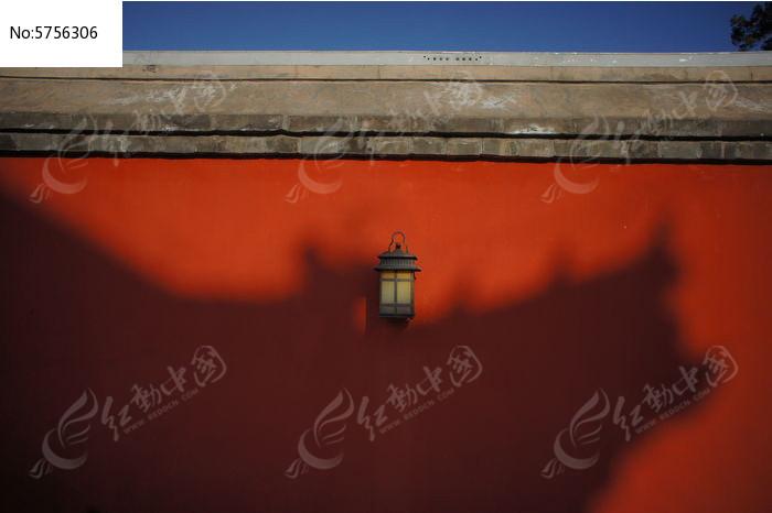 圆明园正觉寺红墙墙灯