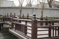 中国古典栏杆走廊