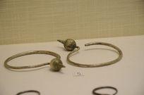 银饰耳饰-侗族大环滴珠银耳环