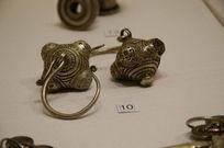 银饰耳饰-侗族灯笼形银耳环