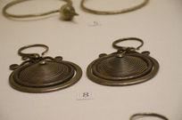 -银饰耳饰-苗族旋珠纹银耳环
