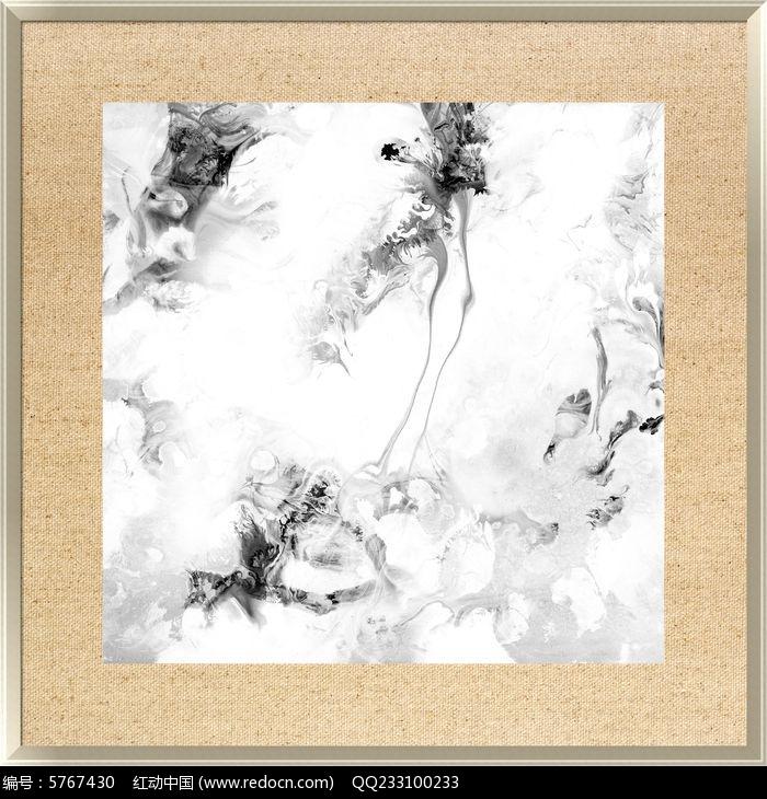 中式风格黑白装饰画图片