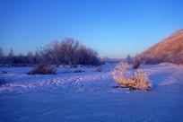 林海雪原朝阳风景