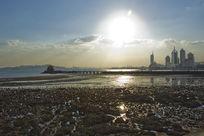 青岛栈桥的壮观风景