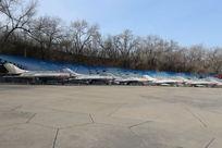 退役的中国空军苏轼米格战队机群