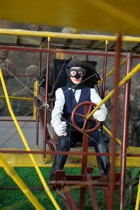 早期螺旋桨飞机和驾驶员模型