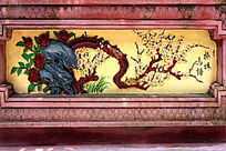梅花窗花装饰画