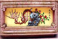 梅花窗台壁画