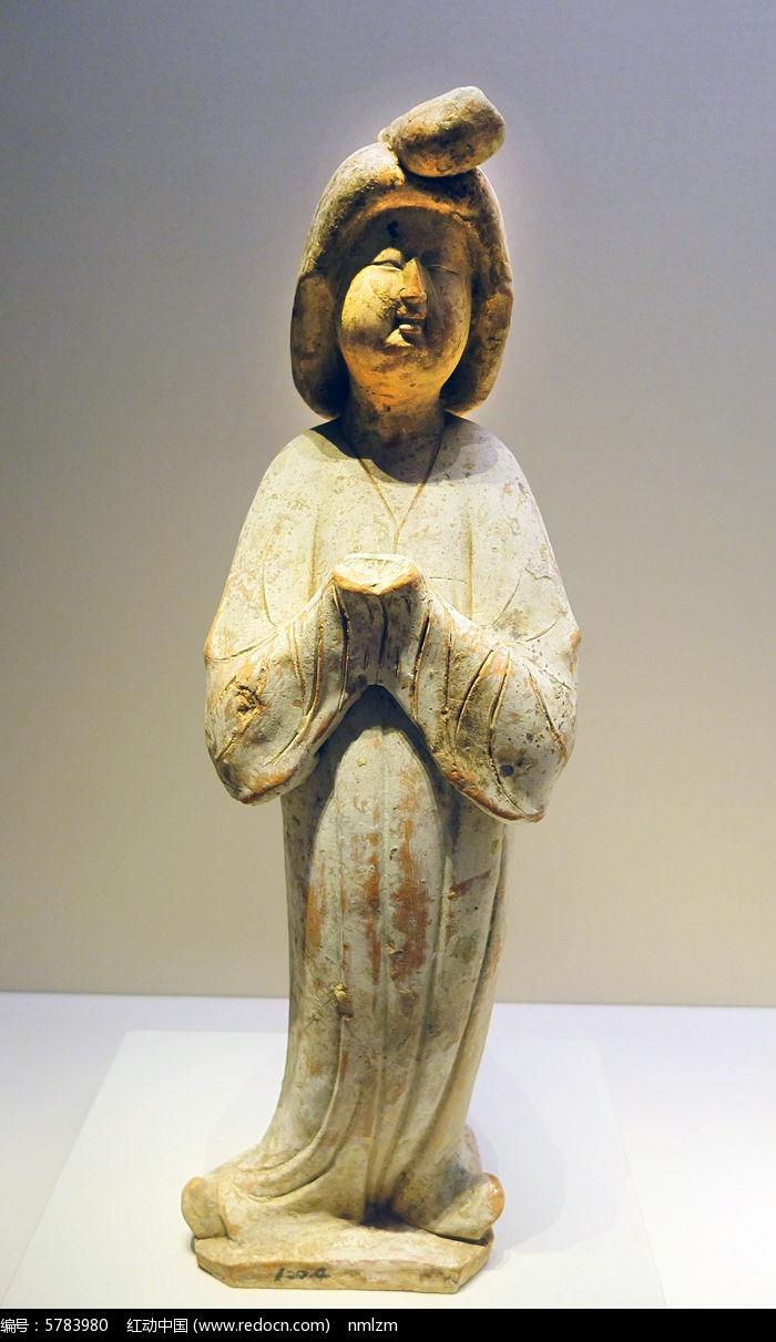 唐代女陶俑图片,高清大图