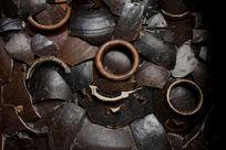 黑色陶瓷片背景