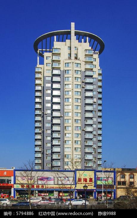 柱状高层居民住宅楼高清图片下载(编号5794886)_红动网