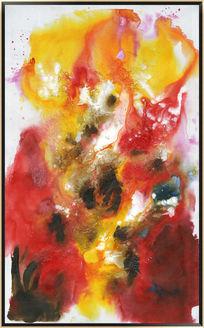 抽象油画玄关背景墙壁画