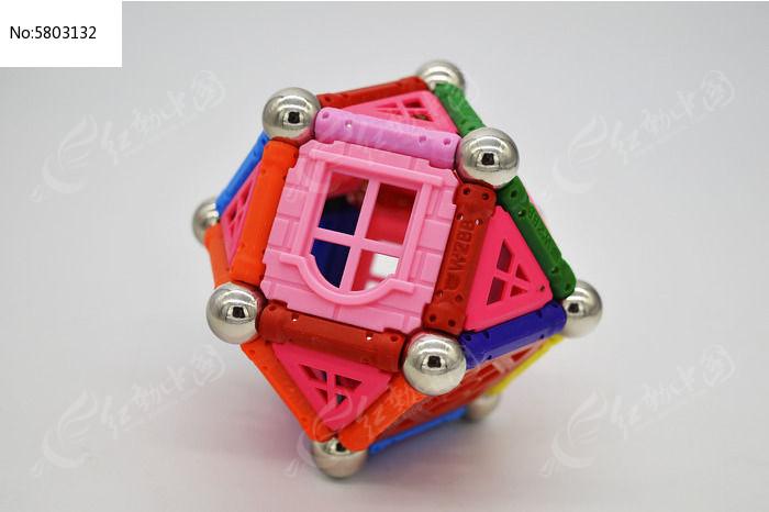 磁力棒拼的棱形球图片