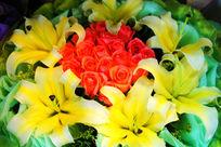 黄百合与红玫瑰